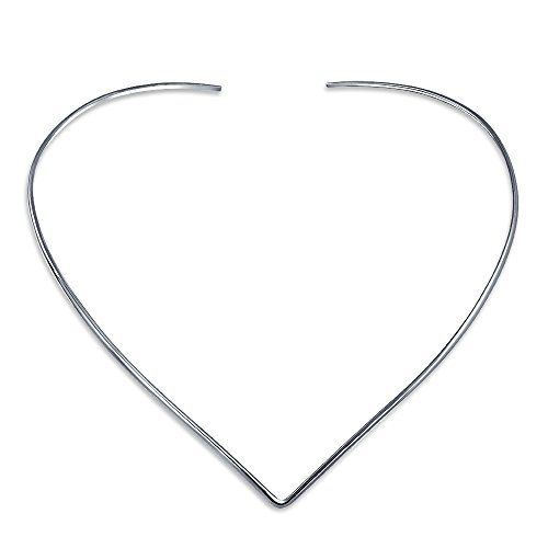 Basic Simple Slider Choker V Shape Collar Statement Necklace For Women 925 Silver Sterling Add Your Pendant