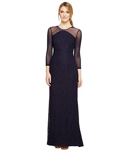 送金したがってご近所[アドリアナパペル] Adrianna Papell レディース Lace Modified Mermaid Gown ドレス Navy 6 [並行輸入品]