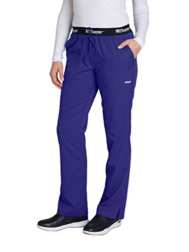 Grey's Anatomy Active 4275 Drawstring Scrub Pant Passion Purple S Tall -