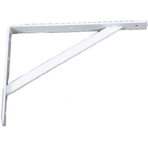 Knape & Vogt 208WH500 591 Heavy Duty Shelf Bracket, 1, White (Duty Bracket Heavy)