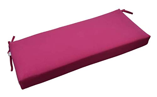 RSH Décor Indoor/Outdoor Bench Cushion Made from Premium Sunbrella Canvas Hot Pink Fabric - 2