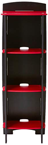 Legar Furniture Children s Furniture 3-Tier Shelf Bookcase, Storage Organizer with Adjustable Shelves for Kids Bedroom, Red and Black
