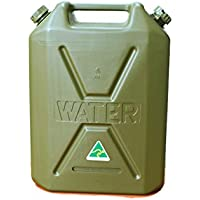 Jerry can Plastic water container 20l Green Dual Lid Heavy Duty 4x4 camping spare Australian made