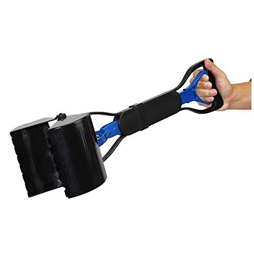 KONKY Pet Dog Poop Scooper Pickup Tool Jaw, Portable Sanitary Shovel Remover Fit for Indoor Outdoor Use on Grass, Gravel, Snow, Dirt, Cement-Blue