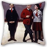 Alphadecor Oil Painting Norman Rockwell - Cousin Reginald Spells Peloponnesus (Spelling Bee) Throw Pillow Case 16 X 16 Inches / 40 By 40 Cm Gift Or Decor For Wife,living Room,festival,monther,adult
