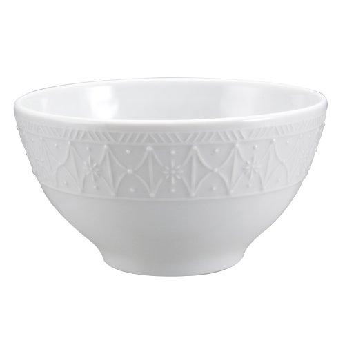 Nikko Ceramics Blanc Fleur All Purpose Bowl 5 1/4 - Fleur Cereal Bowl