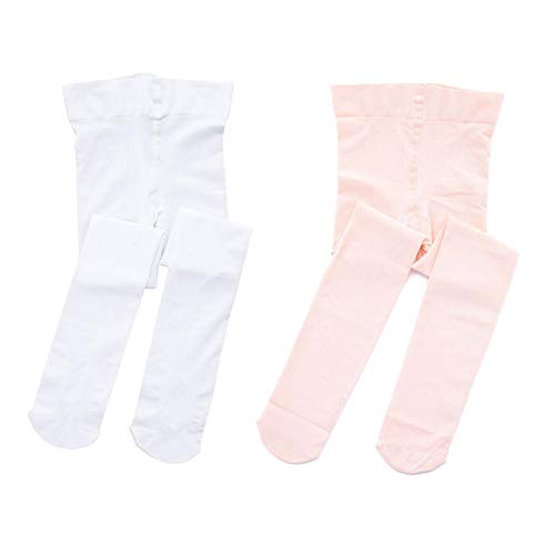 STELLE Girls' Ultra Soft Pro Dance Tight/Ballet Footed Tight (Toddler/Little Kid/Big Kid) (S, ()