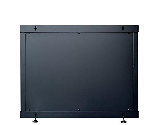 9U Server Rack Cabinet Enclosure. ACCESORIES FREE! Vented Shelf, Cooling Fan, Power Strip. Wall Mount 24'' Deep Fully Loaded Lockable Enclosure Box … by SYSRACKS (Image #4)