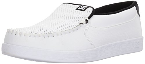 DC Men's Villain Skate Shoe, White/Black Basic, 9 D US