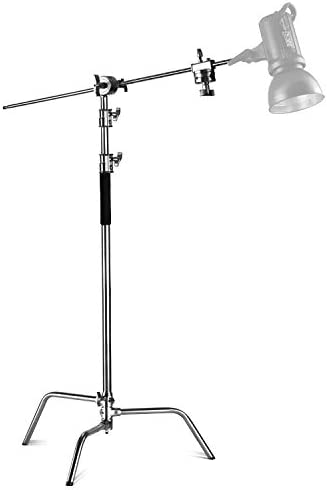 Neewer® Pro 100% Metal Max Height 10ft/305cm Adjustable Reflector Stand with 4ft/120cm Holding Arm and also 2 Pieces Grip Head for Photography Studio Video Reflector, Monolight and also Other Equipment