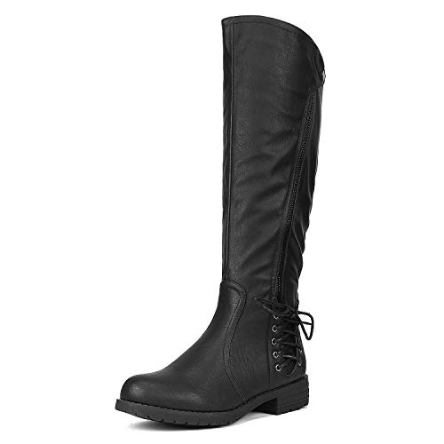 DREAM PAIRS Women's Rival Black Knee High Boots Size 9 B(M) US