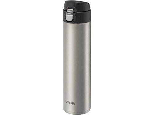 (Tiger MMJ-A060 XC Vacuum Insulated Stainless Steel Travel Mug with Flip Open Lid, Double Wall, 20 Oz, Silver )