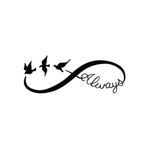infinity sign. amazon.com : tattify bird infinity sign temporary tattoo - continuum (set of 2) other styles available and fashionable tattoos beauty