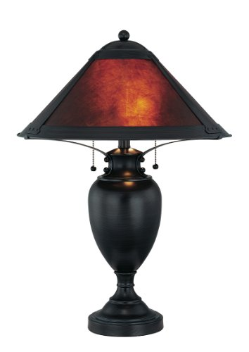 Lite Source LS-21437 Mischa Table Lamp, Dark Bronze with Mica -
