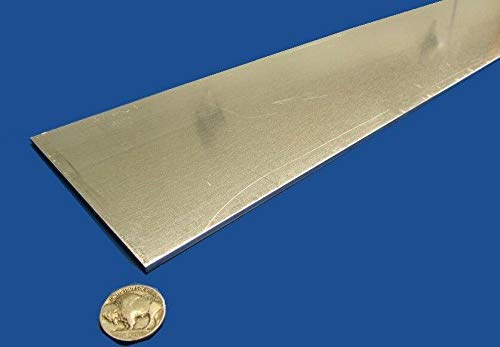 JumpingBolt 6061 T651 Aluminum Bar, 1/8'' (.125'') Thick x 4.0'' Wide x 36'' Length Material May Have Surface Scratches