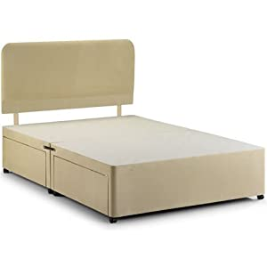 Double divan bed base no drawers kitchen for Double divan base and mattress