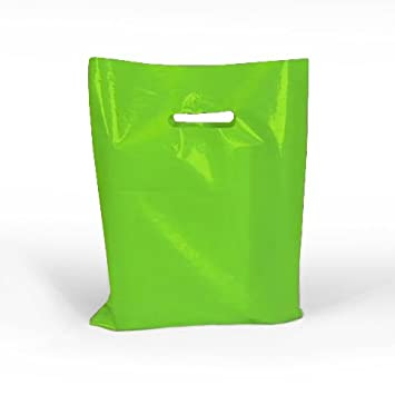Amazon.com: De color verde lima brillante bolsas de plástico ...