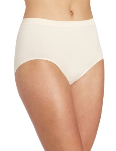 Bali Women's Comfort Revolution Seamless Brief Panty,Light Beige,6/7 ()