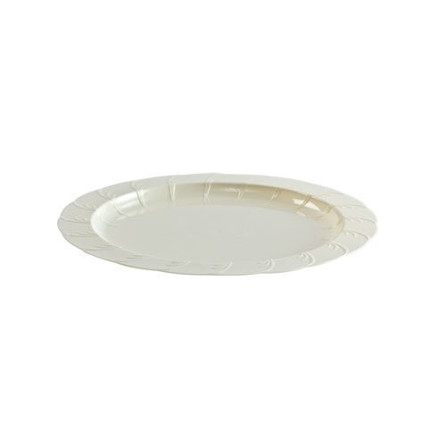 Hanna K. Signature Collection 40 Count Elegance Plastic Plate, 7-Inch, Ivory