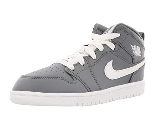 Jordan 1 Mid BP Boys Little Kids Shoes Cool Grey/White/White 640734-036 (1.5 M US)]()