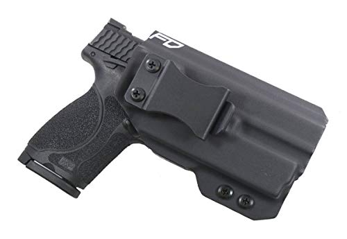 Fierce Defender IWB Kydex Holster S&W MP 2.0 Compact 9/40 w/Olight PL-Mini Valkyrie The Winter Warrior Series -Made in USA- (Black)