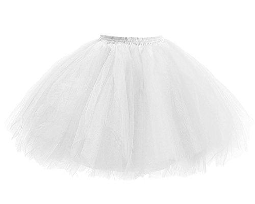 Bianco Retro Donna il Anno Prom Sottogonna Balletto di di Gonna Principessa Tulle per Partito Facent Annata Tutu Danza 50 di 4Hd4qw5
