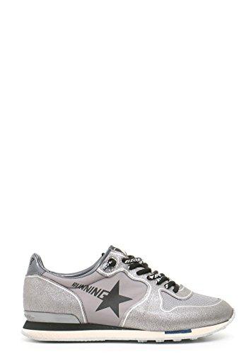 GOLDEN GOOSE WOMEN'S MCBI139023O SILVER FABRIC SNEAKERS (Footwear Fabric Silver)