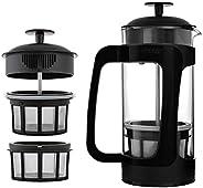 Espro Coffee Press P3-18 oz, Glass and Black Plastic, FFP