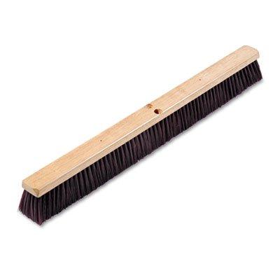 Pro Line Stiff Polypropylene Floor - Floor Brush Head, 3 1/4'' Maroon Stiff Polypropylene, 36''