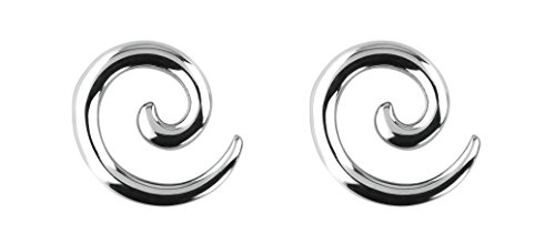 Forbidden Body Jewelry Pair of 6g (4mm) Surgical Steel Solid Spiral Taper Earrings ()