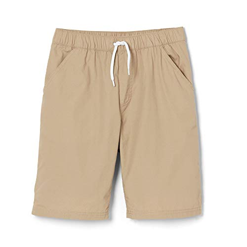 - French Toast Boys' Big Twill Pull-On Short, Khaki, 16