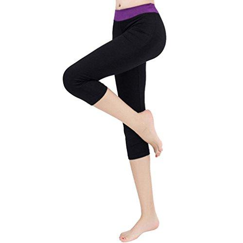 3 Capri Pantaloni Maglia Collant Leggings In s Yoga Nero Pizzo Sportive Donna Fitness Elastico Basic grigio xl Nero 4 e Styledresser 6tqPdww
