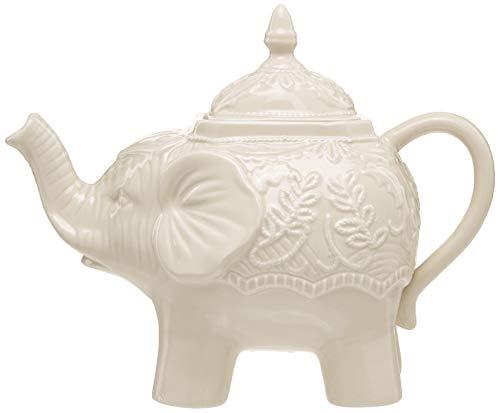 Abbott Collection 27-Mahout/Sand Ornate Elephant Teapot-Sand-10 L