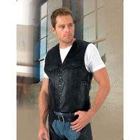 River Road Frontier Leather Vest - Large/Black