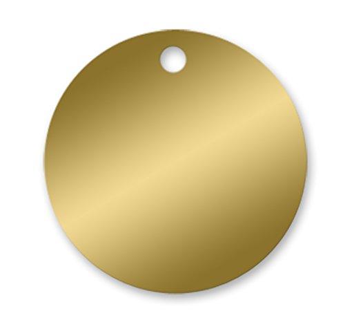 Brass Tags - 1-1/2 inch Circle - .020 - Pk/25 ()