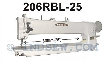 Consew 206RBL-25, 25″ Long Arm Walking Foot Industrial Sewing Machine With Table And Servo Motor