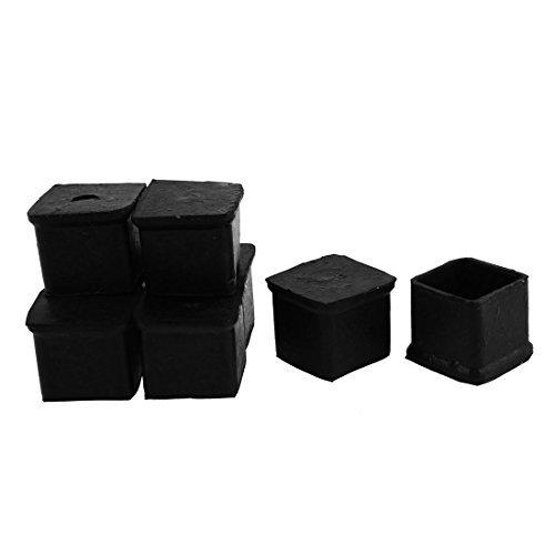 eDealMax Caoutchouc carrée Meubles de Table Pied Couverture Mat Porte 30mm x 30mm 8 pièces
