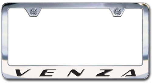 Toyota Venza Chrome Engraved License Plate Frame, Block Lettering
