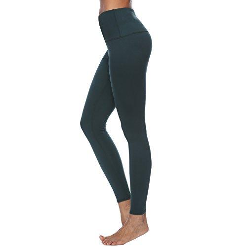 Stretch 4 Pants Way (RURING Women's High Waist Yoga Pants Tummy Control Workout Running 4 Way Stretch Yoga Leggings)