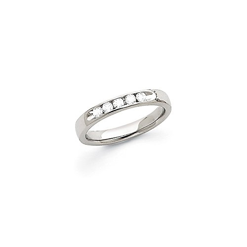 0.26 Carat (ctw) 14k White Gold Ladies Bridal Comfort Fit Diamond Channel Band 1/4CT by JewelrySuperMart Collection