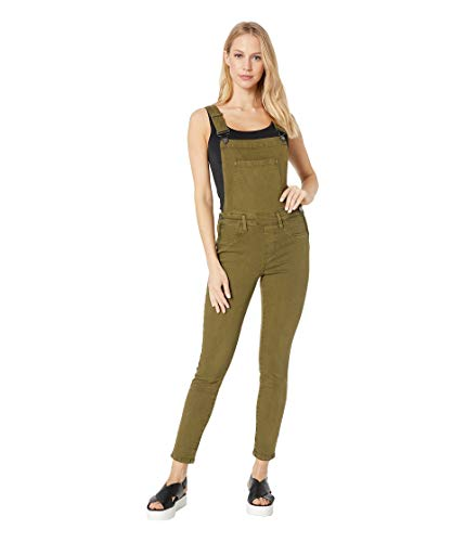 [BLANKNYC] Blank Denim Women's Skinny Overalls, Apple Jack, Green, 28