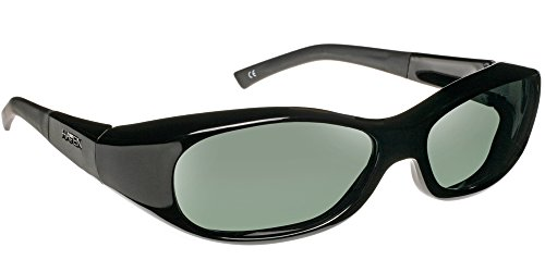 Haven Fits Over Sunwear Avalon Polarized Rectangular Sunglasses,Gloss Black,57.9 - Sunglasses Avalon