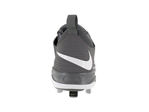 Nike Mens Truite 2 Crampon De Baseball Professionnel Fraîche Gris / Loup Gris / Pur Platine / Blanc
