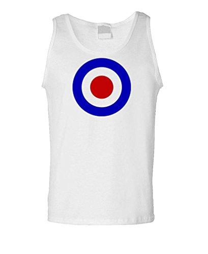 MOD Target - Retro who Underground RAF Tank Top, M, White