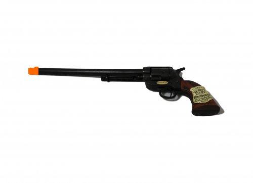 "18""x5"" Long Barrel Colt Buntline Replica - Brown Grip Non Firing Replica"