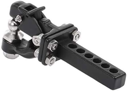 Toyvian メタルヒッチトレーラーフック1:10クライミング牽引シャックルレーシングカーリモートコントロールカークローラー用カースペアパーツ