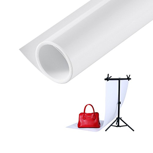 Meking Photography Backdrop Matte PVC Background 24*51 inch (60*130cm) White from Meking