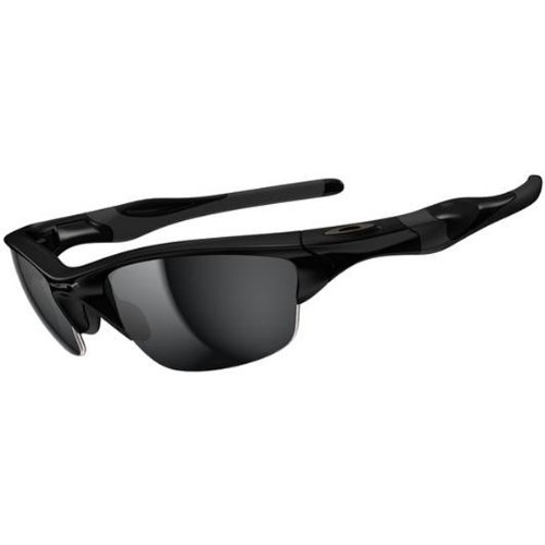 Oakley Mens Half Jacket 2 0 Xl Oo9154 01 Iridium Sunglasses Polished Black Frame Black Iridium Lens One Size