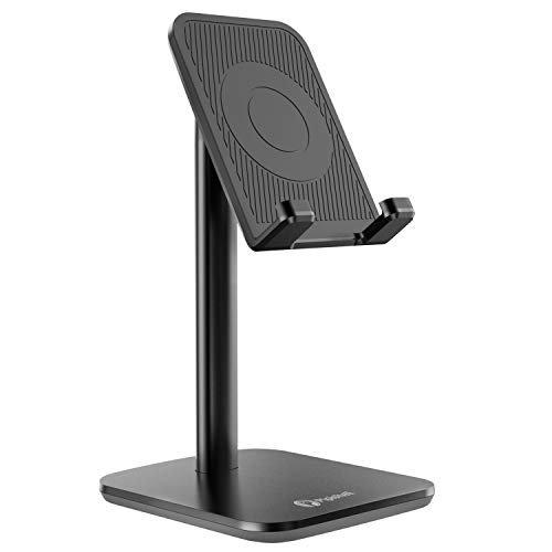 Cell Phone Stand Holder, Multi-Angle Adjustable Smart Phone Desk Stand Dock, Compatible with iPhone, Samsung Galaxy and All Android Phone Up to 10.5 Inch
