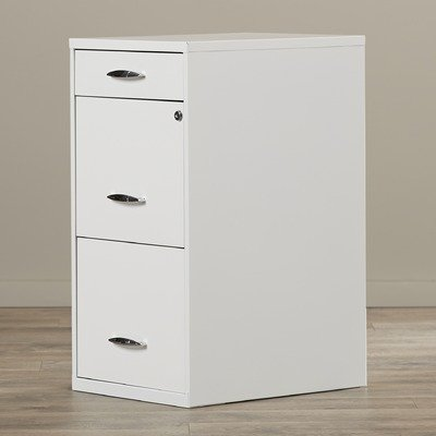 Steel 3 Drawer Filing Cabinet from Symple Stuff